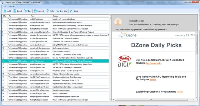 Softaken EML to NSF Converter Software