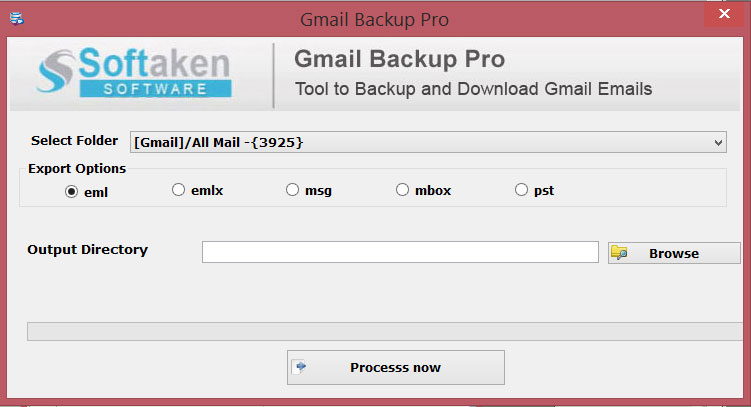 Download Gmail Backup tool to backup Gmail