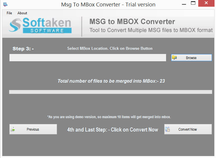 Windows 7 MSG to MBOX Converter 1.0 full
