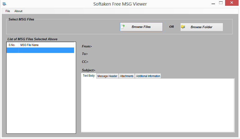 Download Softaken Free MSG Viewer