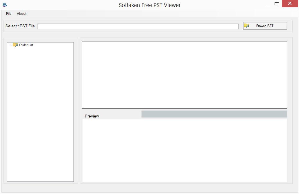 Windows 7 Free PST Viewer 1.0 full
