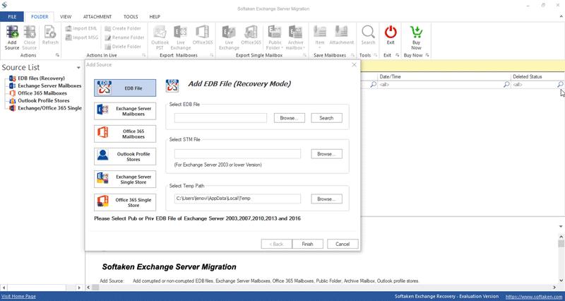 Softaken Exchange Server Migration full screenshot