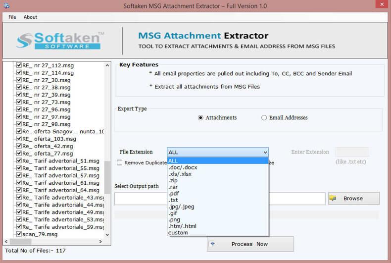 Softaken MSG Attachment Extractor