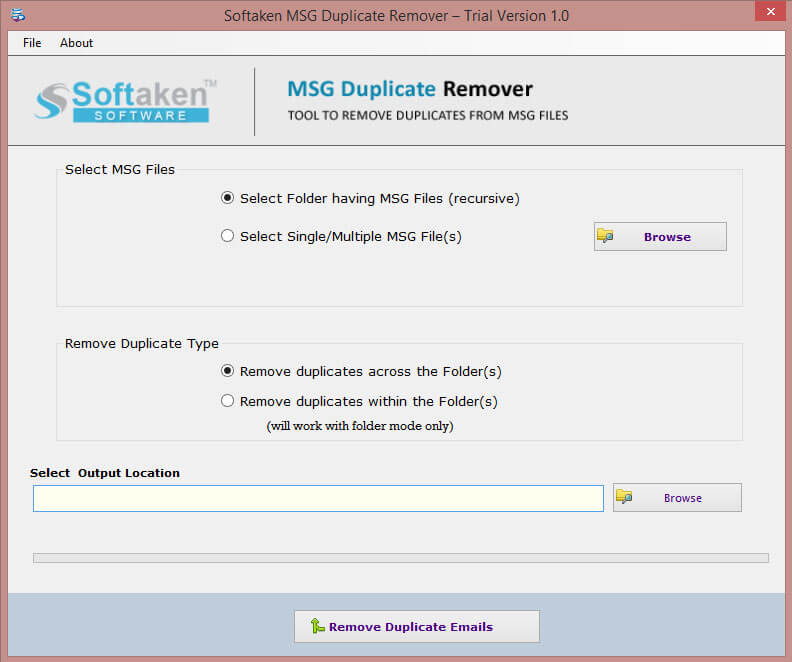 Softaken MSG Duplicate Remover 1.0 full