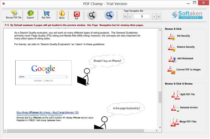 Softaken PDF Champ full screenshot