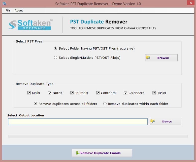 Softaken PST Duplicate Remover 1.0 full