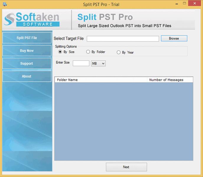 Softaken Split PST