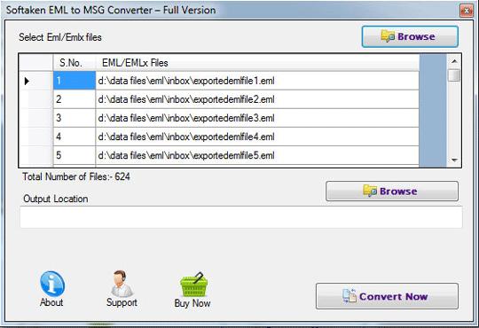 Windows 7 Softaken EML to MSG Converter 1.0 full