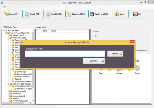 Softaken PST Recovery full screenshot